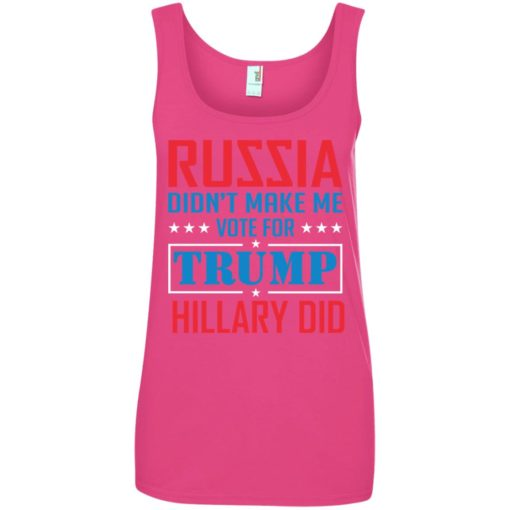 Russia didn't make me vote for Trump Hillary did shirt - image 1029 510x510