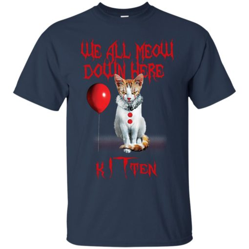 We all meow down here Kitten cat shirt - image 1742 510x510
