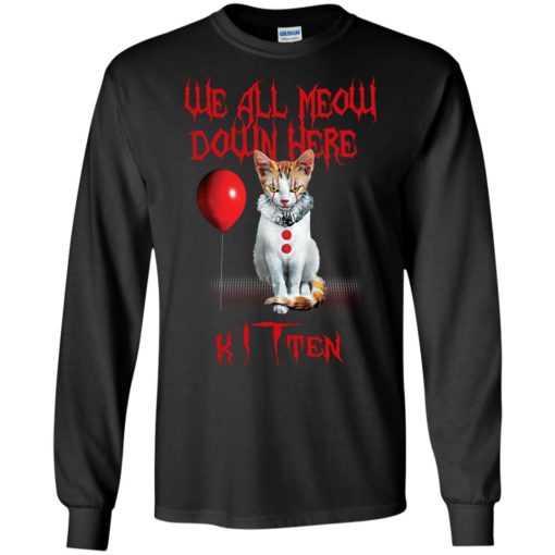 We all meow down here Kitten cat shirt - image 1744 510x510