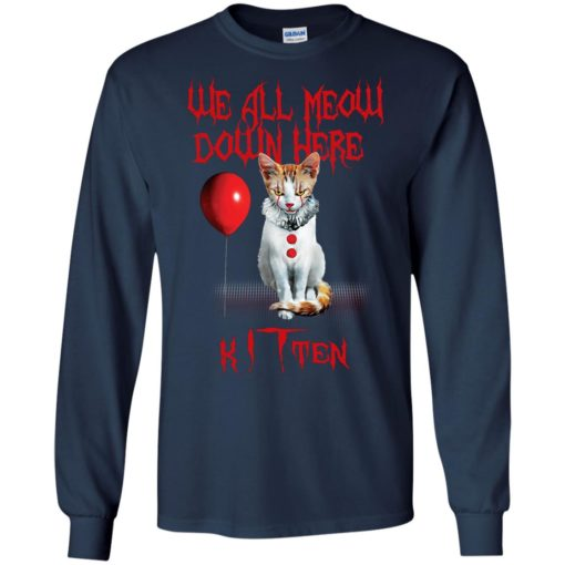 We all meow down here Kitten cat shirt - image 1745 510x510