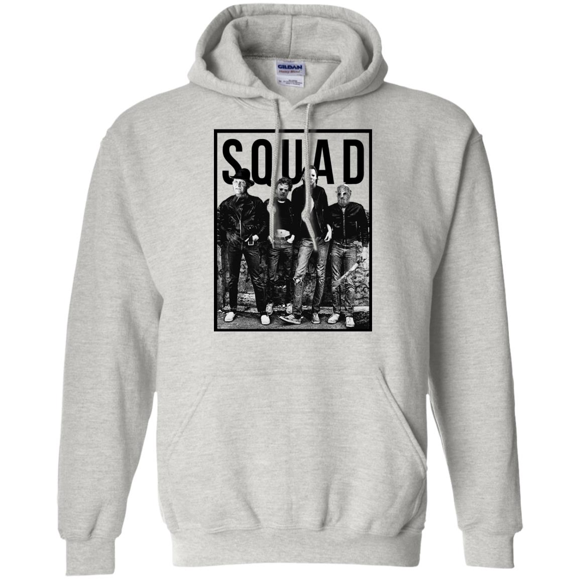freddy jason michael myers and leatherface squad shirt, hoodie, long