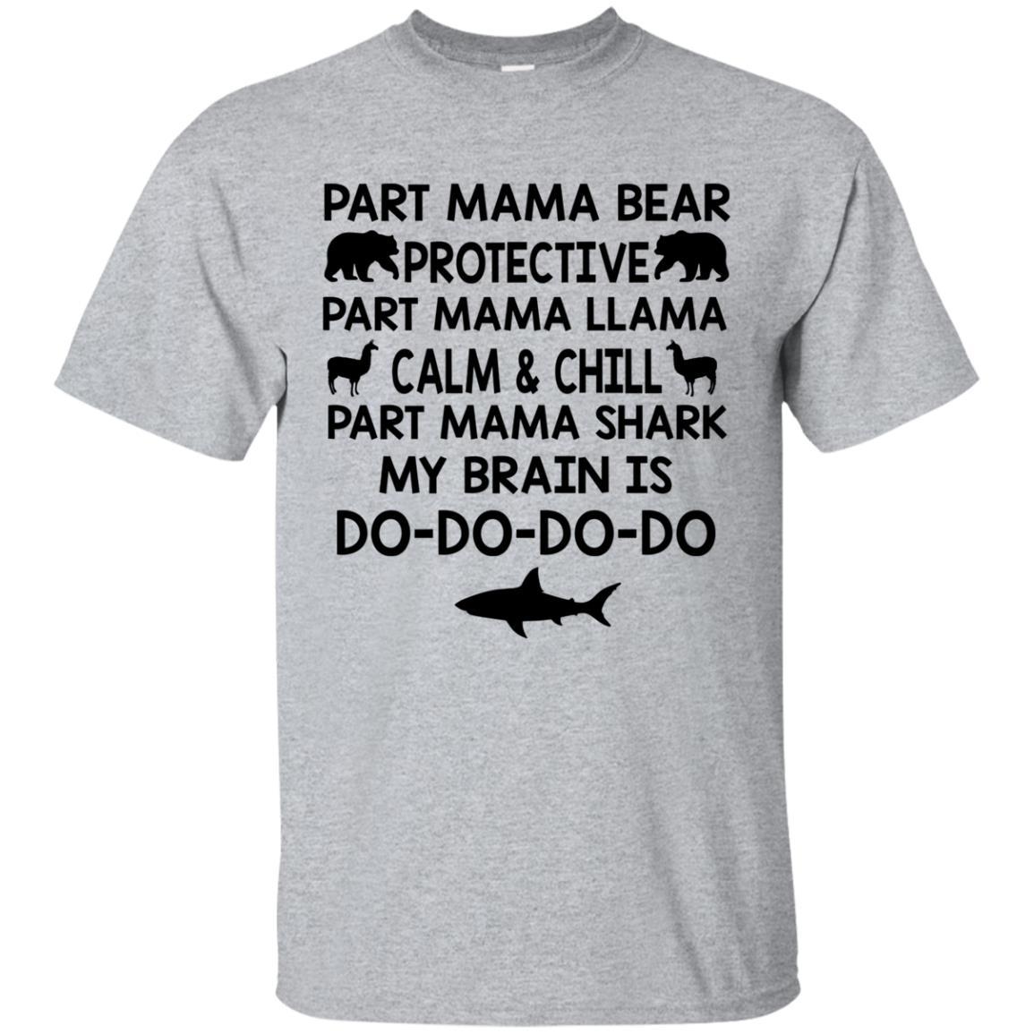 2fdbad33 Part Mama Bear Protective Part Mama Llama Calm shirt - NextlevelA