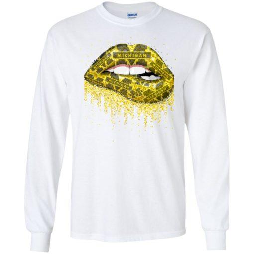 Lips Michigan Wolverines shirt - image 2452 510x510