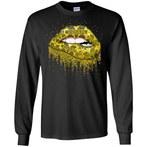 Lips Michigan Wolverines shirt - image 2453 510x510