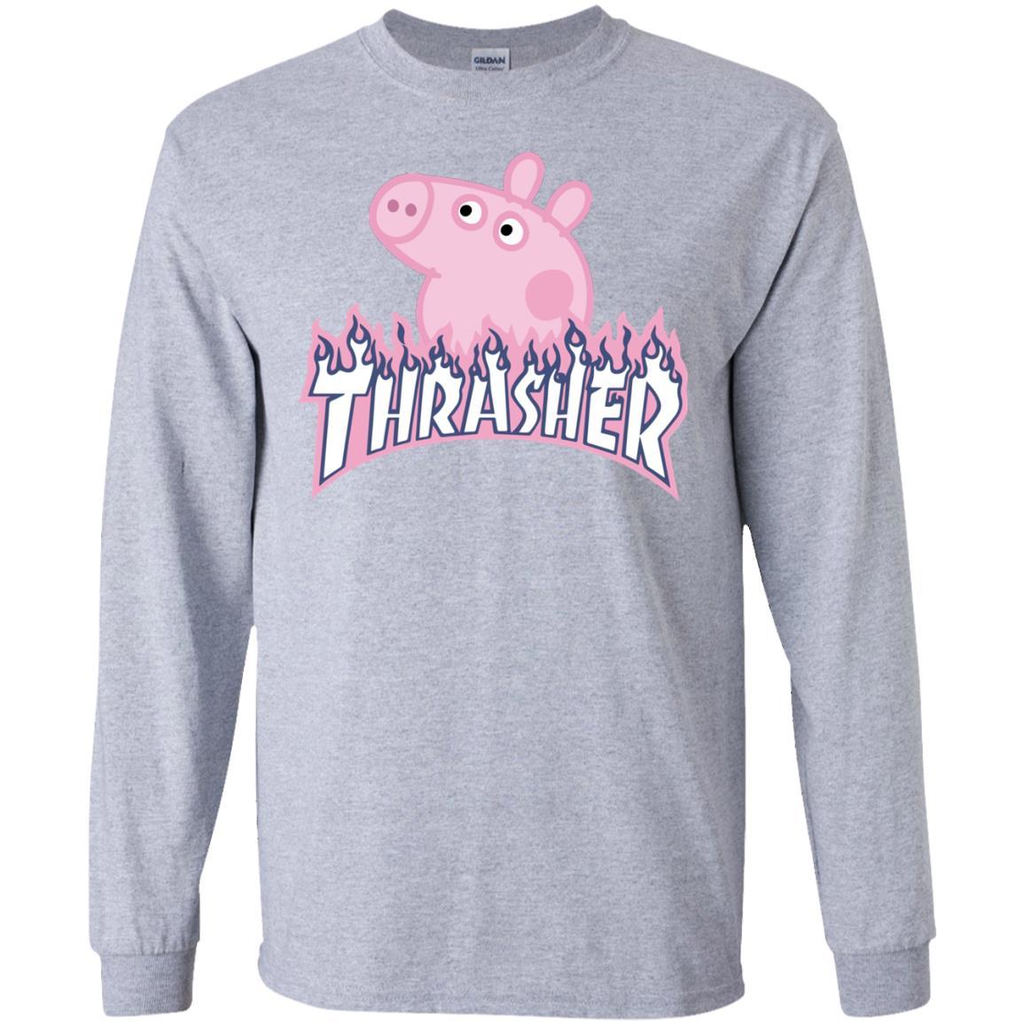 Thrasher Peppa Pig t-shirt, hoodie