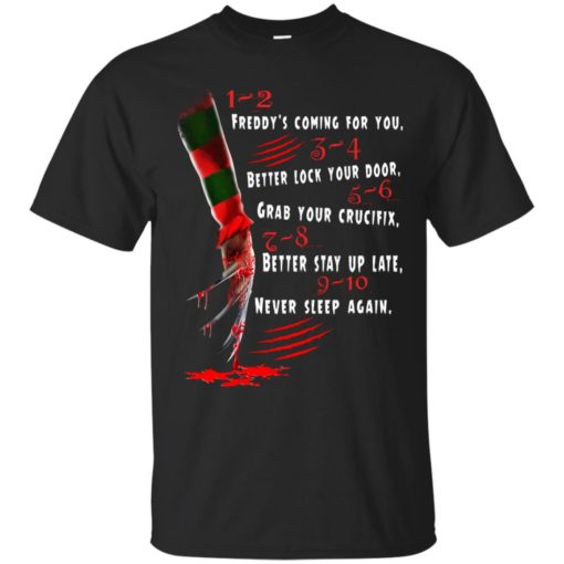 1 2 Freddy's Coming For You 3 4 Better Lock Your Door shirt - image 2723 510x510