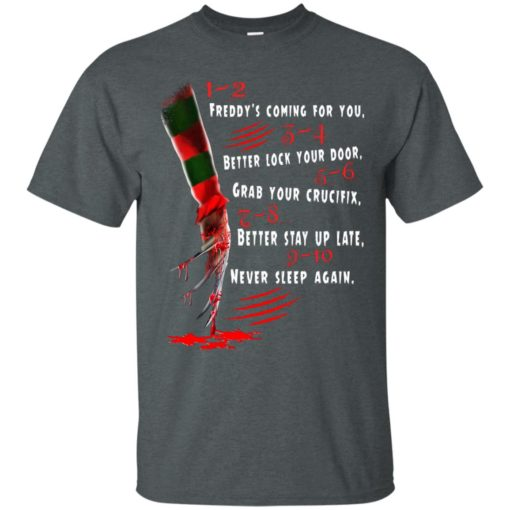 1 2 Freddy's Coming For You 3 4 Better Lock Your Door shirt - image 2724 510x510