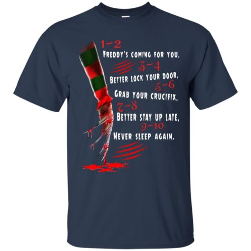 1 2 Freddy's Coming For You 3 4 Better Lock Your Door shirt - image 2725 510x510