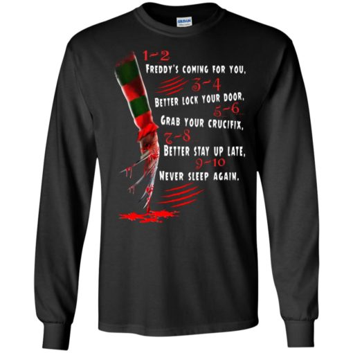 1 2 Freddy's Coming For You 3 4 Better Lock Your Door shirt - image 2726 510x510