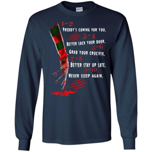 1 2 Freddy's Coming For You 3 4 Better Lock Your Door shirt - image 2727 510x510