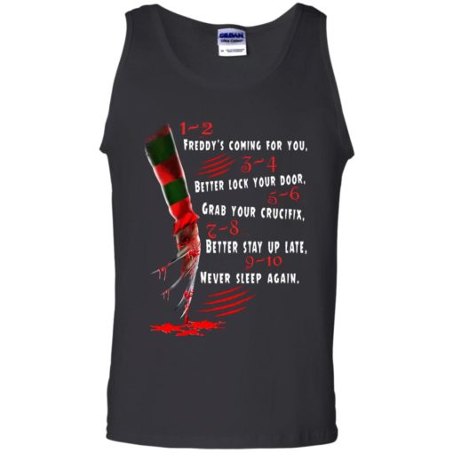 1 2 Freddy's Coming For You 3 4 Better Lock Your Door shirt - image 2730 510x510