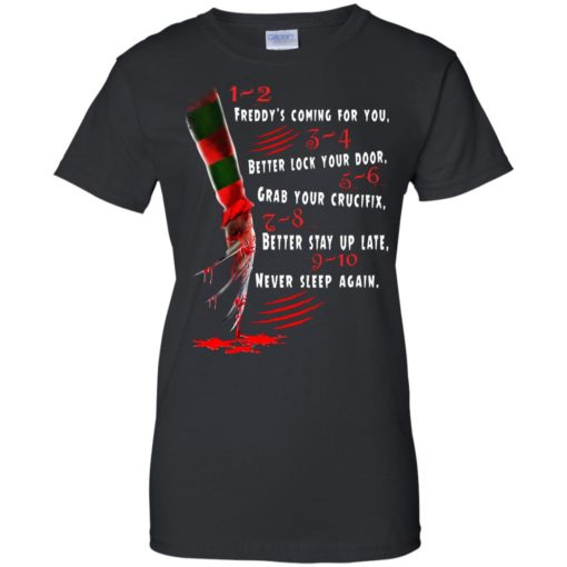 1 2 Freddy's Coming For You 3 4 Better Lock Your Door shirt - image 2733 510x510