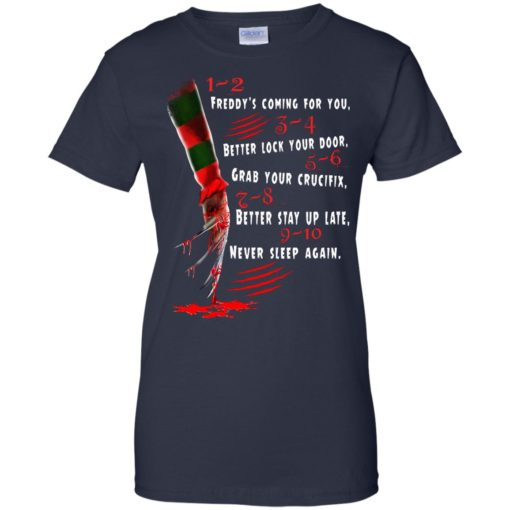 1 2 Freddy's Coming For You 3 4 Better Lock Your Door shirt - image 2734 510x510