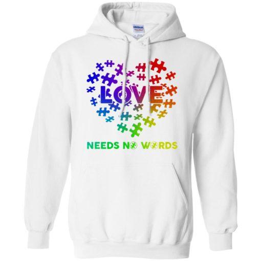 Autism Love need no Words shirt - image 2902 510x510