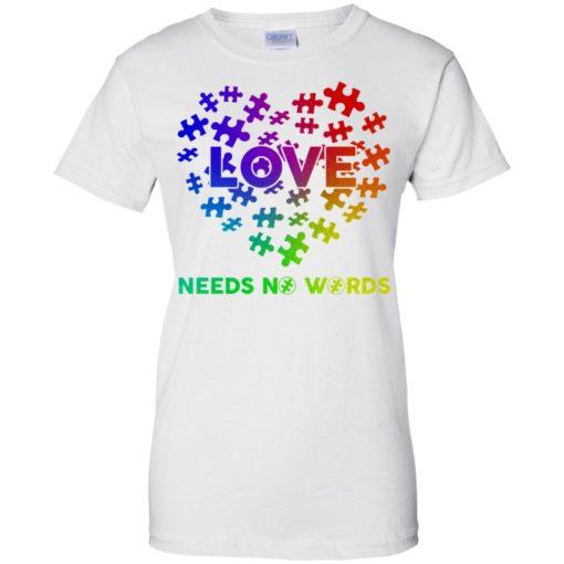 Autism Love need no Words shirt - image 2904 510x510