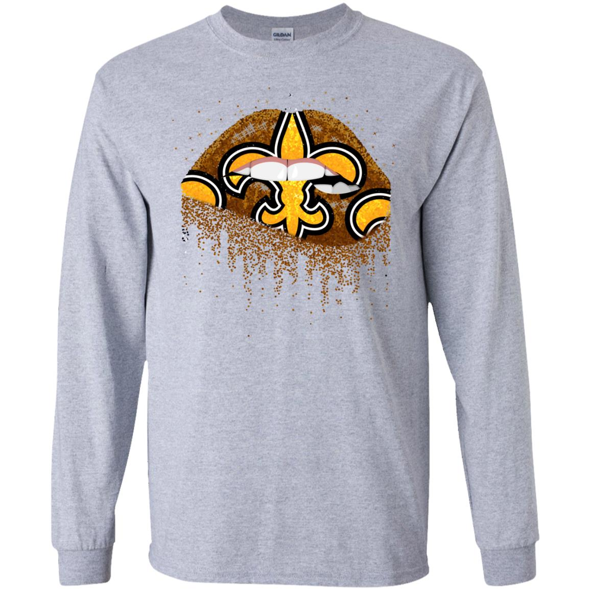 New orleans saints lips t shirt hoodie long sleeve for New orlean saints shirts