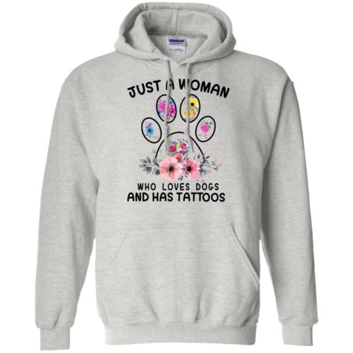 Just A Woman Who Love Dogs And Has Tattoos shirt - image 3389 510x510