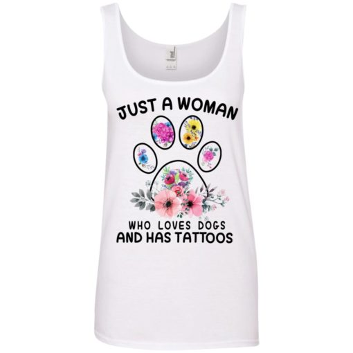 Just A Woman Who Love Dogs And Has Tattoos shirt - image 3392 510x510