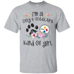 I'm a Dog and Steelers Kind of Girl shirt - image 3590 247x247