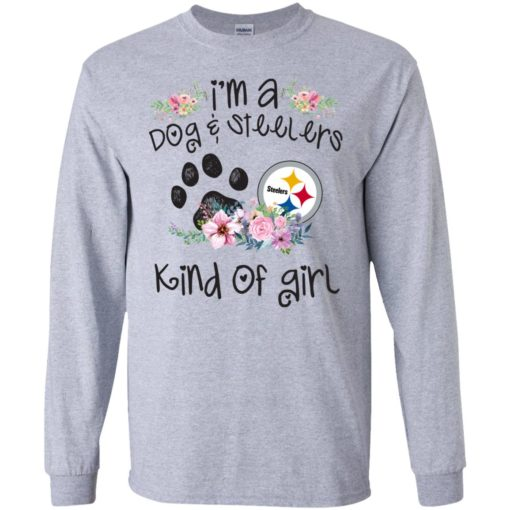 I'm a Dog and Steelers Kind of Girl shirt - image 3592 510x510
