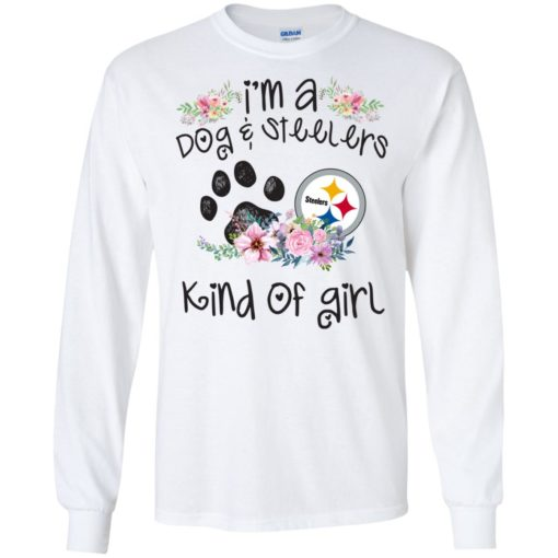 I'm a Dog and Steelers Kind of Girl shirt - image 3593 510x510