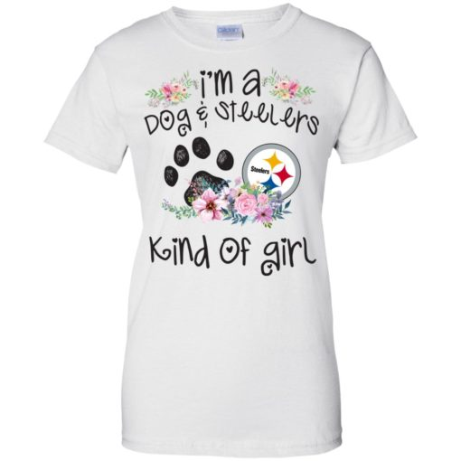 I'm a Dog and Steelers Kind of Girl shirt - image 3599 510x510