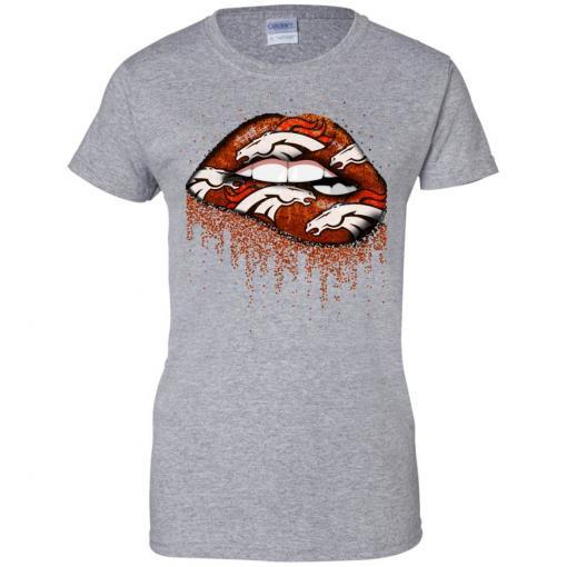 Denver Broncos lips shirt - image 3761 510x510