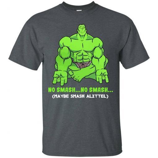 Hulk yoga No smash no smash maybe smash a little shirt - image 3776 510x510