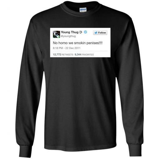 Young Thug No Homo We Smokin Penises shirt - image 3898 510x510