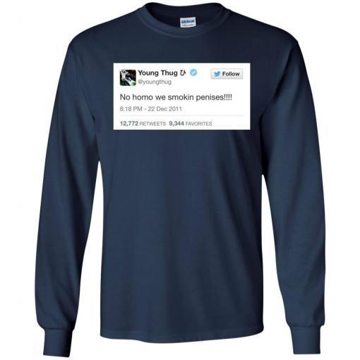 Young Thug No Homo We Smokin Penises shirt - image 3899 510x510