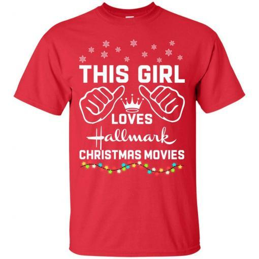 This girl loves Hallmark Christmas movies shirt - image 4172 510x510