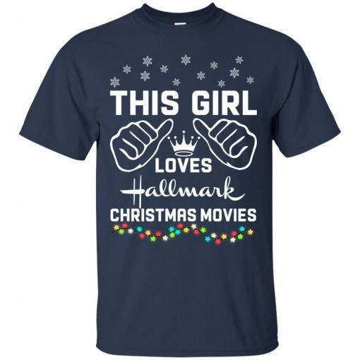 This girl loves Hallmark Christmas movies shirt - image 4173 510x510