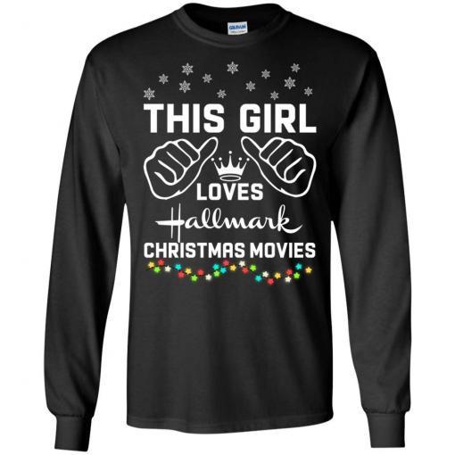 This girl loves Hallmark Christmas movies shirt - image 4174 510x510