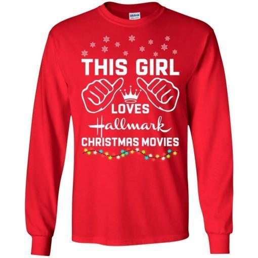 This girl loves Hallmark Christmas movies shirt - image 4175 510x510