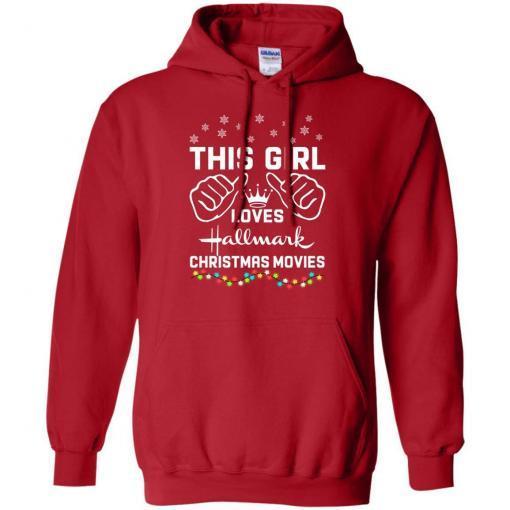 This girl loves Hallmark Christmas movies shirt - image 4177 510x510