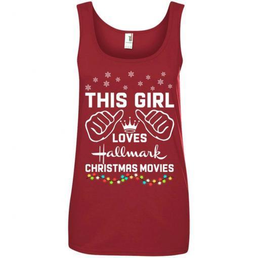 This girl loves Hallmark Christmas movies shirt - image 4179 510x510