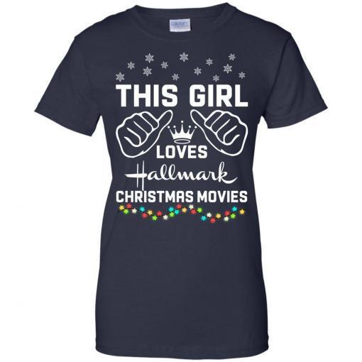This girl loves Hallmark Christmas movies shirt - image 4181 510x510