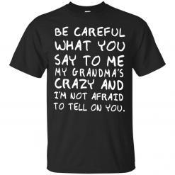 Be Careful What You Say To Me My Grandma's Crazy shirt - image 4348 247x247