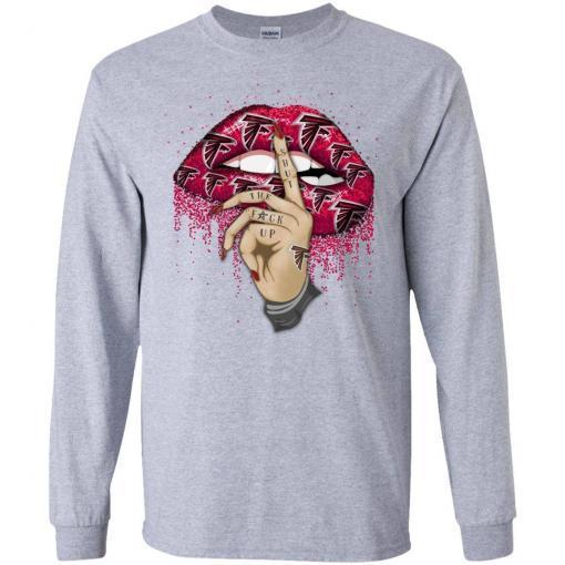 Atlanta Falcons lips shut the fuck up shirt - image 4406 510x510