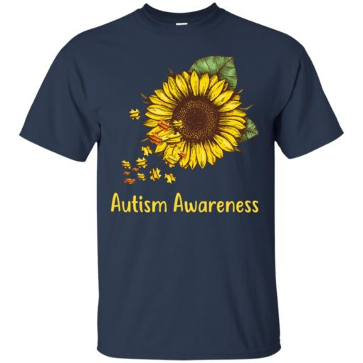 Autism Awareness sunflower shirt - image 445 510x510