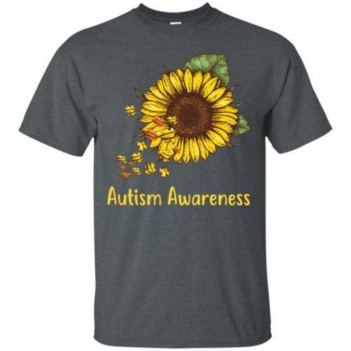 Autism Awareness sunflower shirt - image 446 510x510