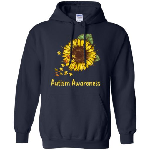 Autism Awareness sunflower shirt - image 450 510x510