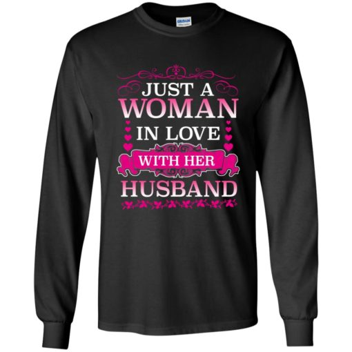 Just a woman in love with her husband shirt - image 495 510x510