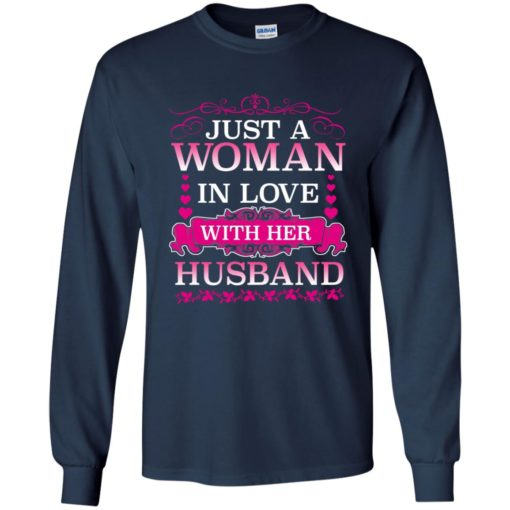 Just a woman in love with her husband shirt - image 496 510x510