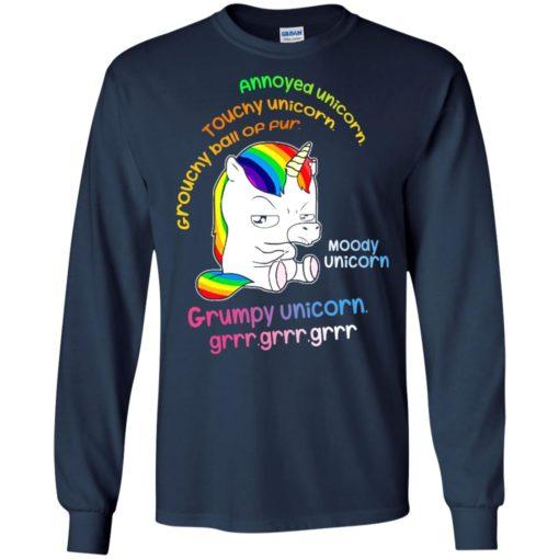Annoyed unicorn touchy unicorn moody unicorn shirt - image 556 510x510