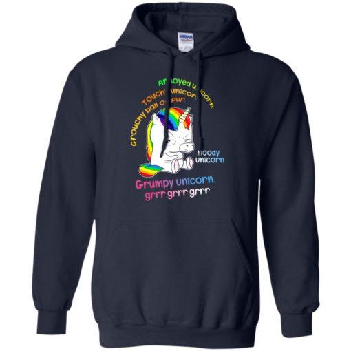 Annoyed unicorn touchy unicorn moody unicorn shirt - image 558 510x510