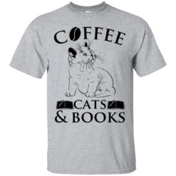 Cat Coffee cats and books shirt - image 840 247x247