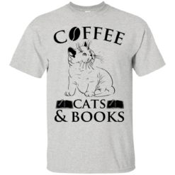 Cat Coffee cats and books shirt - image 841 247x247