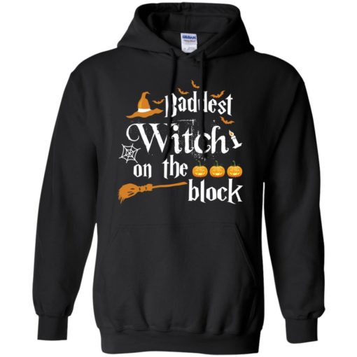 Halloween baddest witch on the block shirt - image 1500 510x510