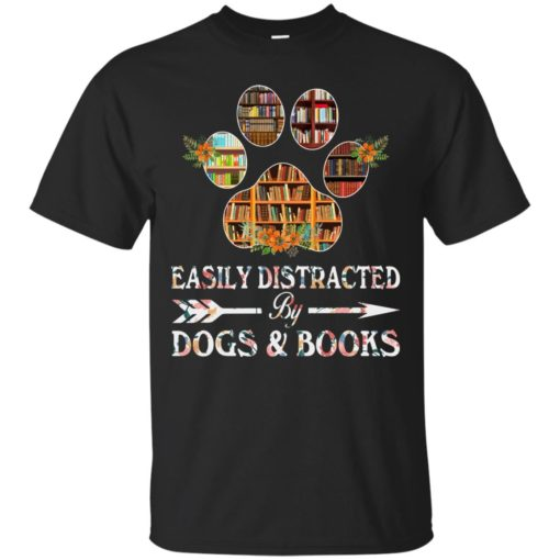 Easily distracted by dogs and books shirt - image 1523 510x510